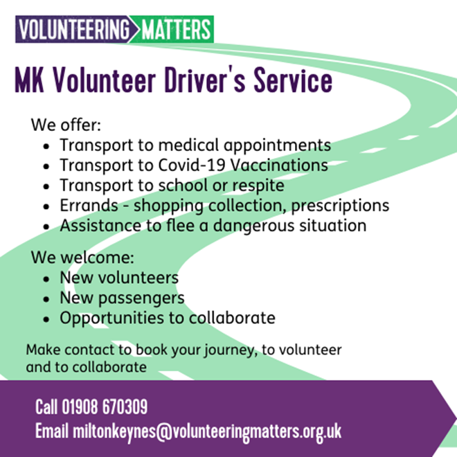 Volunteer to be a driver