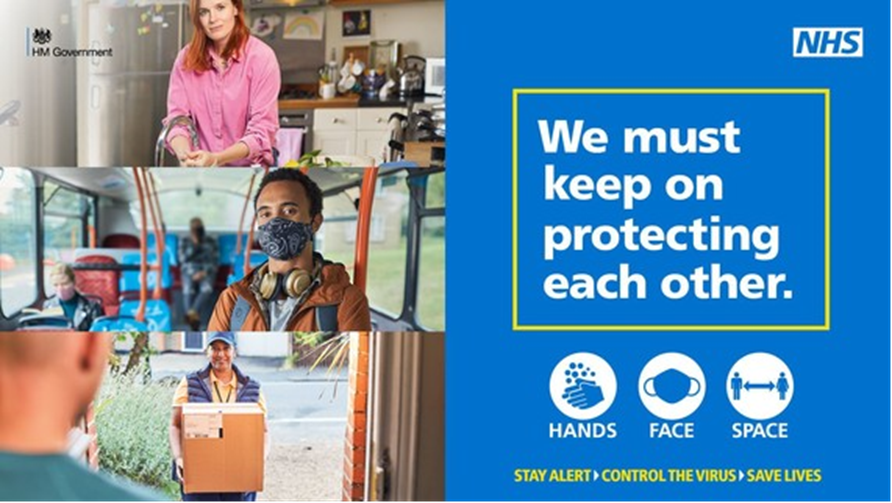 GOV We must keep on protecting eachother stock image