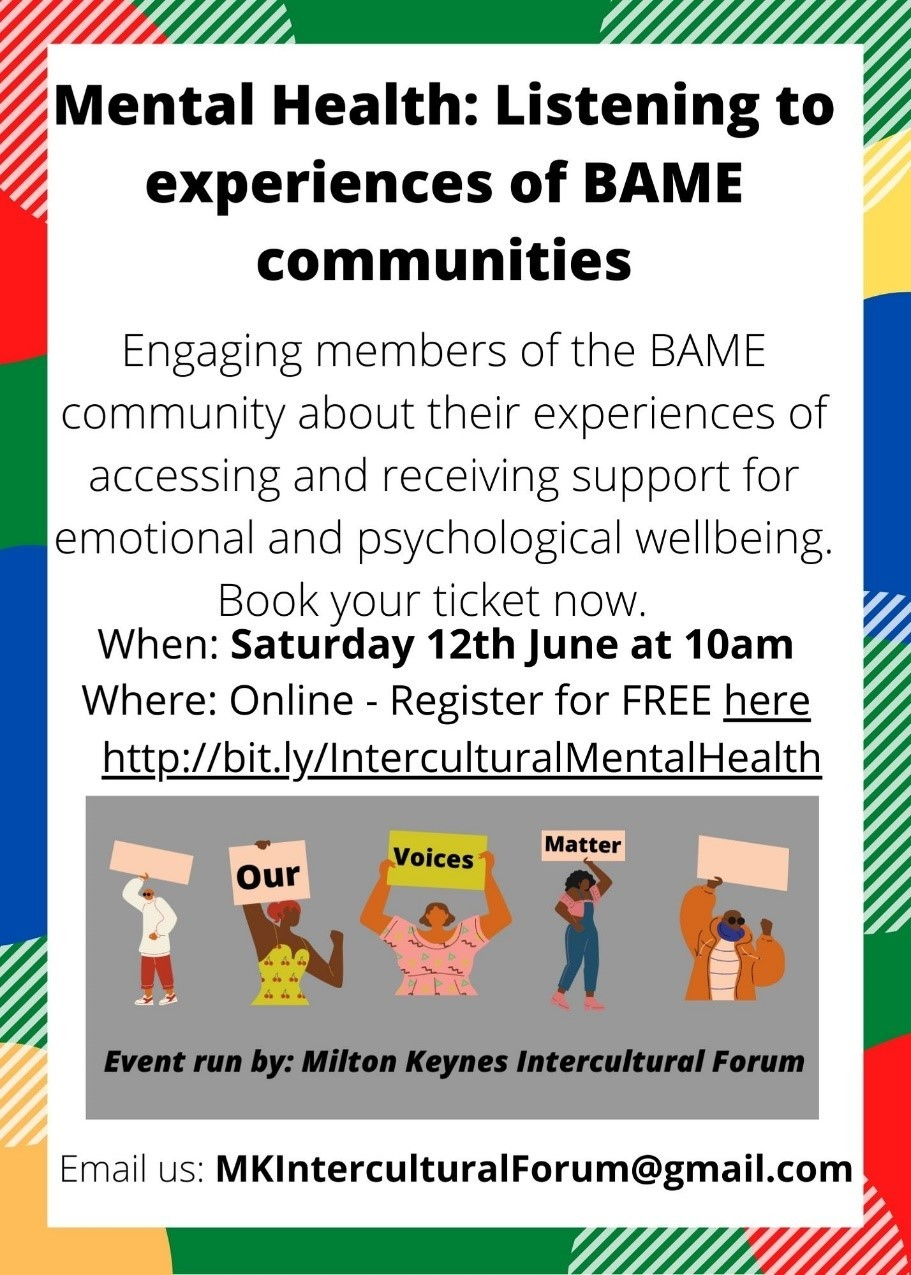 Mental Health: Listening to experiences of BAME communities