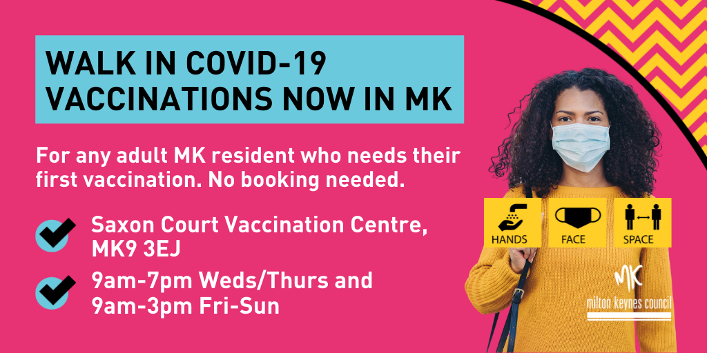Walk-in COVID-19 vaccinations