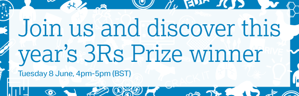 Join us and discover this year's 3Rs Prize winner