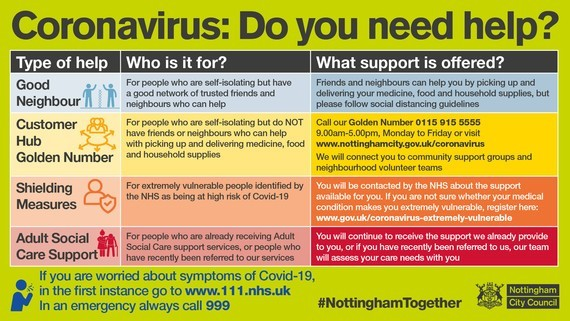 Coronavirus: do you need help?