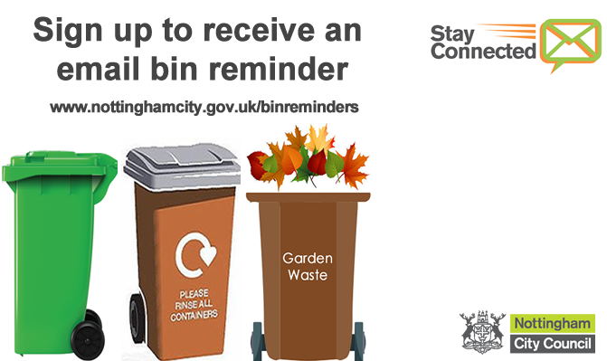 Sign up to receive an email bin reminder