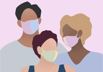 Clipart of face coverings