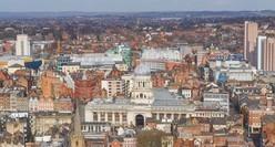 Birds-eye view of Nottingham