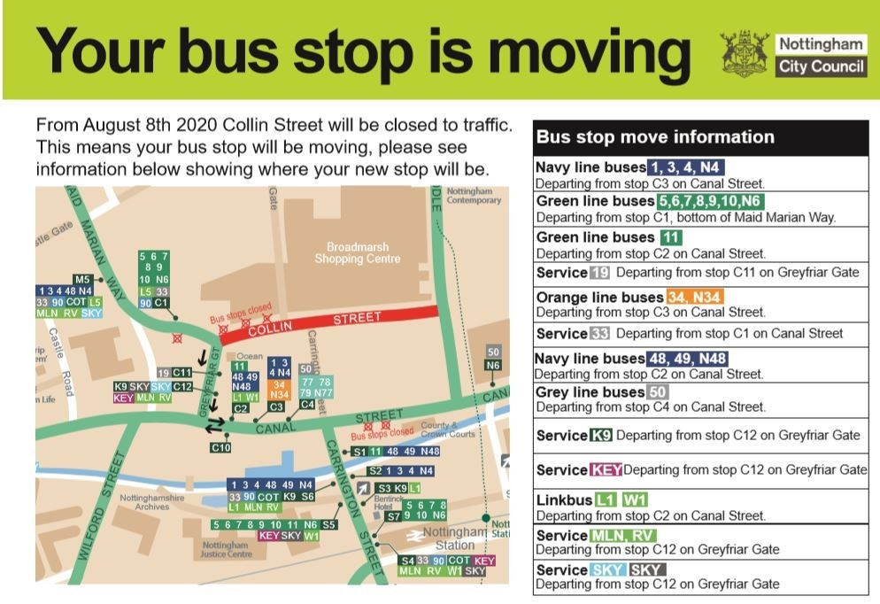 You bus stop is moving