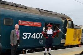 "DRS locomotive named ""Blackpool Tower"""