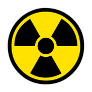 Nuclear waste yellow and black logo