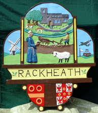 New Rackheath village sign