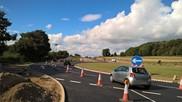 Traffic using new A1067/NDR roundabout