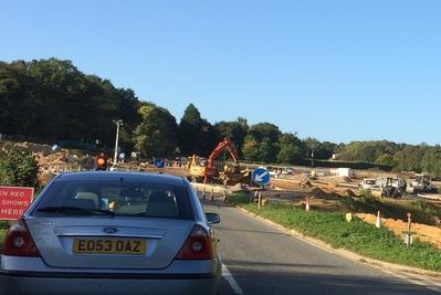 Work on Wroxham Road