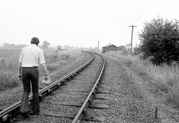 Walking on the tracks at Themelthorpe