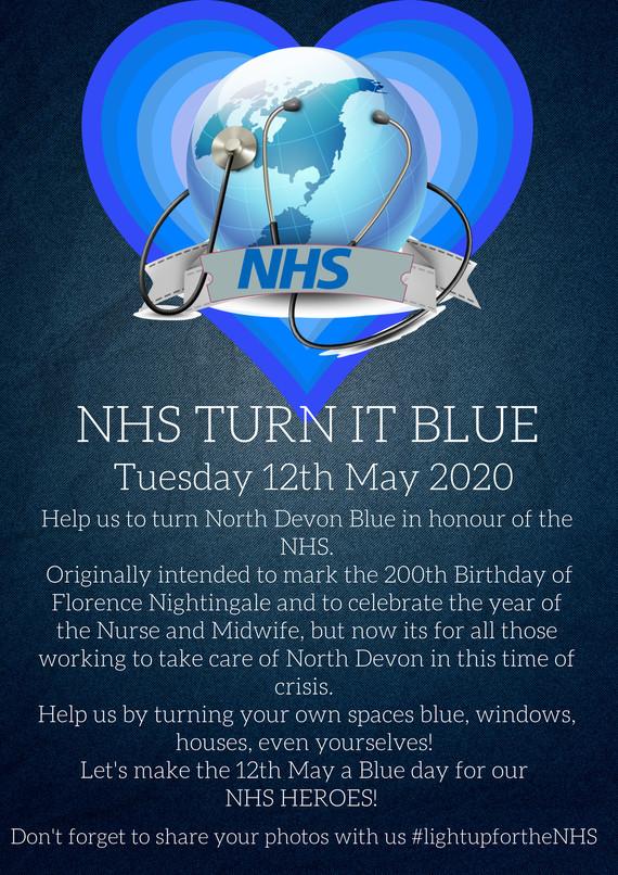 NHS Turn it Blue