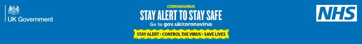 Stay alert NHS banner