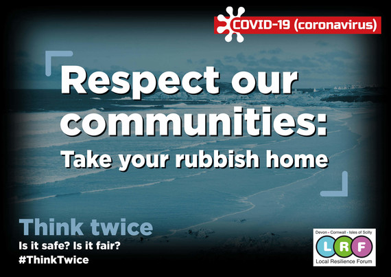 Think Twice - take rubbish home