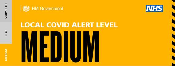 Medium alert covid banner