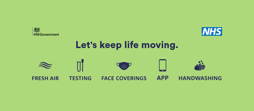 Lets keep life moving graphic from NHS