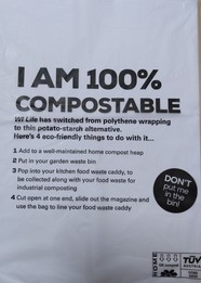what to do with compostable wrappers