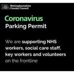 Parking permits for key workers and NHS staff