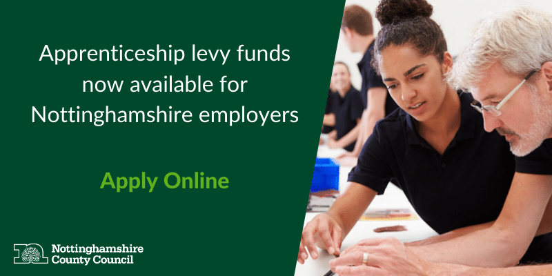 Apprenticeship levy funds now available