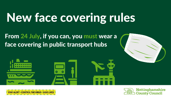 Face coverings in transport hubs