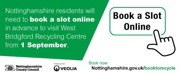 West Bridgford Recycling Centre booking system
