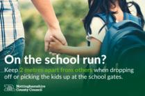 Social distancing at school gates
