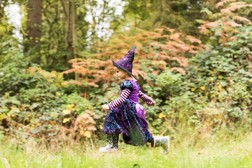 Young girl on Halloween Trail at Sherwood Forest