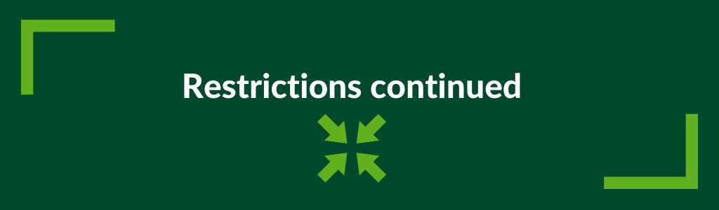Restrictions continued