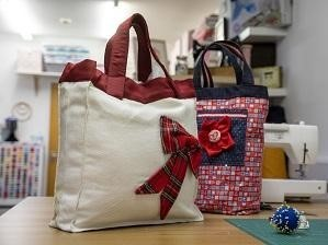 Image of homemade Christmas bag