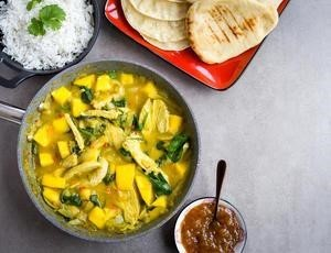 Image of bowl of turkey and mango curry