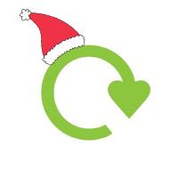 Christmas recycle logo