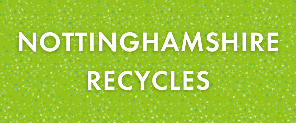 Nottinghamshire Recycles banner with snowflakes