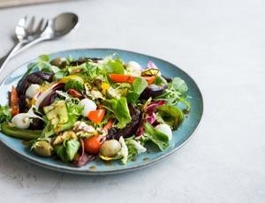 image of italian roasted vegetable salad