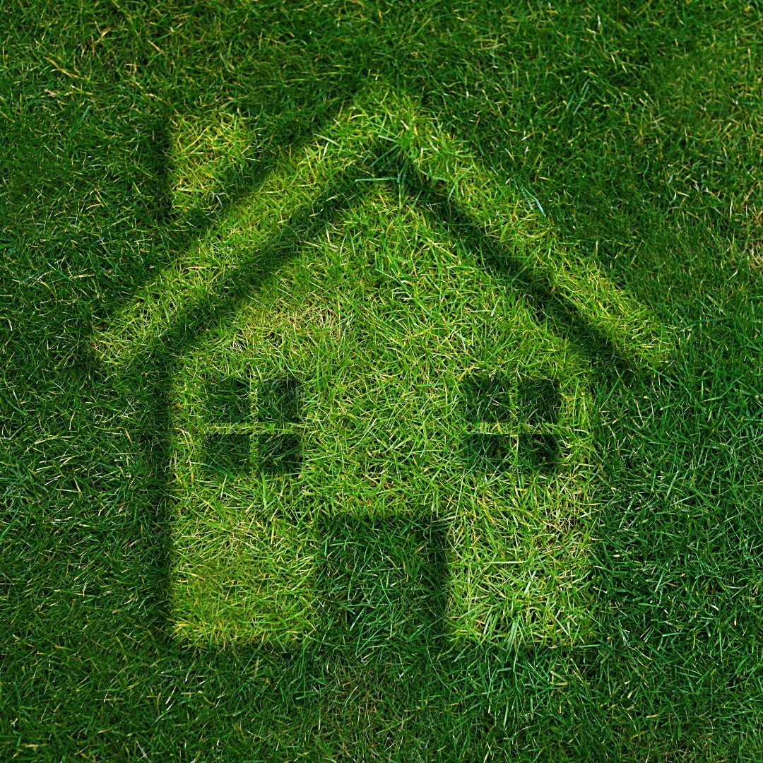 Image of home in grass