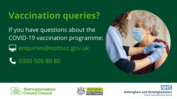 Visit Notts NHS to read our frequently asked questions on covid19 vaccinations