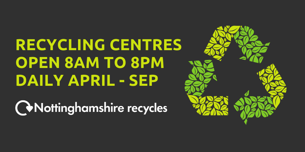 Recycling Centres hours change from 1 April