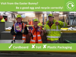 staff at recycling centre