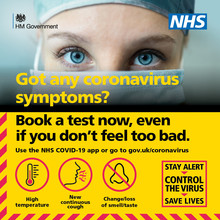 book a test if you have covid symptoms