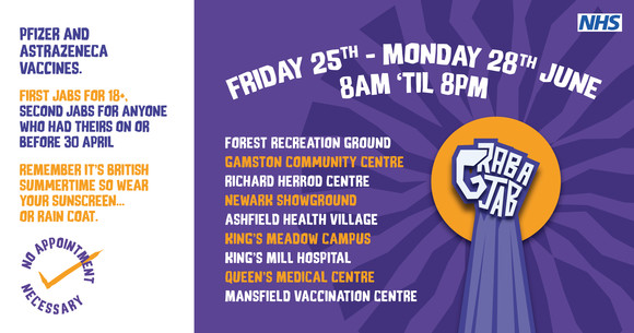 Nottinghamshire Big Weekend for Vaccinations