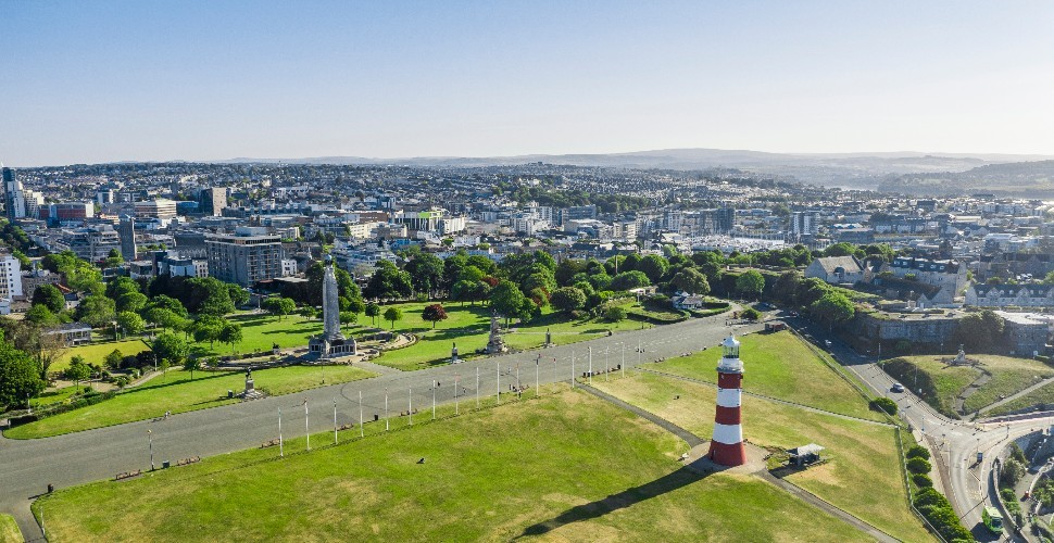 Plymouth Hoe aerial