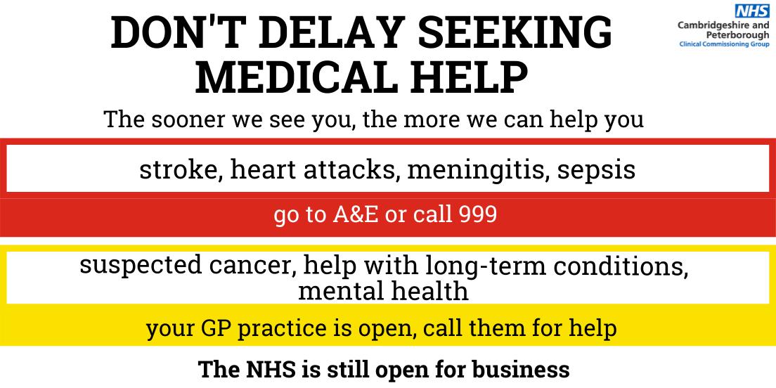 Don't delay seeking help