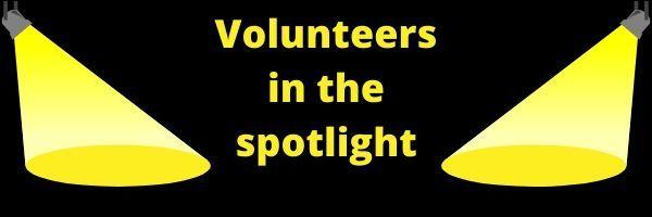 Volunteer in the spotlight graphic