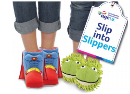 Slip into Slippers graphic
