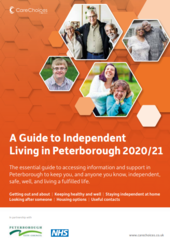 Front Cover of the Guide to Independent Living in Peterborough