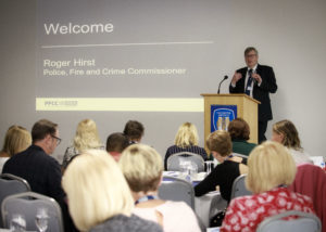 Roger Hirst addressing delegates at the conference