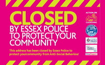 cuckooing logo and words closed by Essex Police to protect your community