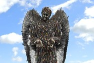 sculpture made of knives, the knife angel