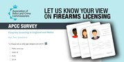 Image of firearms survey question