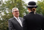 PFCC Roger Hirst at the passing out parade